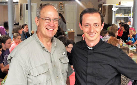 Fr Lucio with Tom Gronotte, rest in peace.